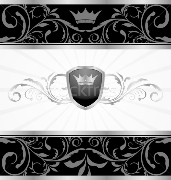 ornate dark decorative frame Stock photo © smeagorl