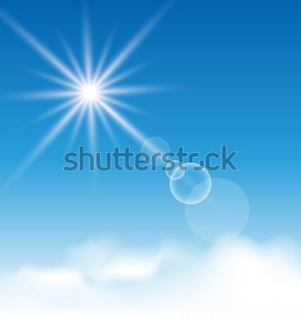 Lens flare with sunlight, abstract background Stock photo © smeagorl