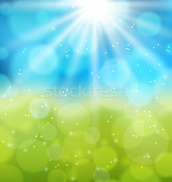 Sunny natural background with lens flare Stock photo © smeagorl