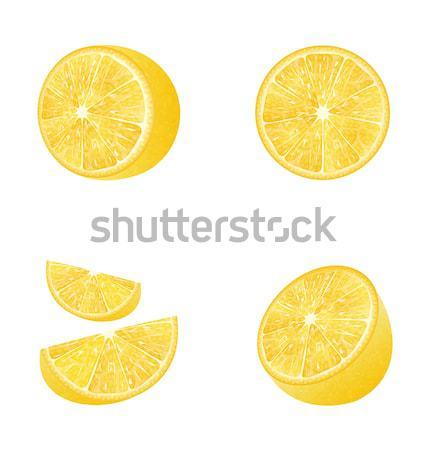 Set of Fruit Lemons Isolated Stock photo © smeagorl