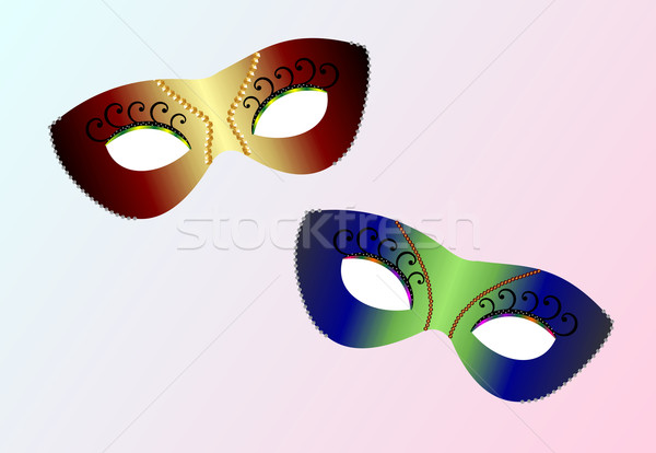 realistic carnaval masks Stock photo © smeagorl