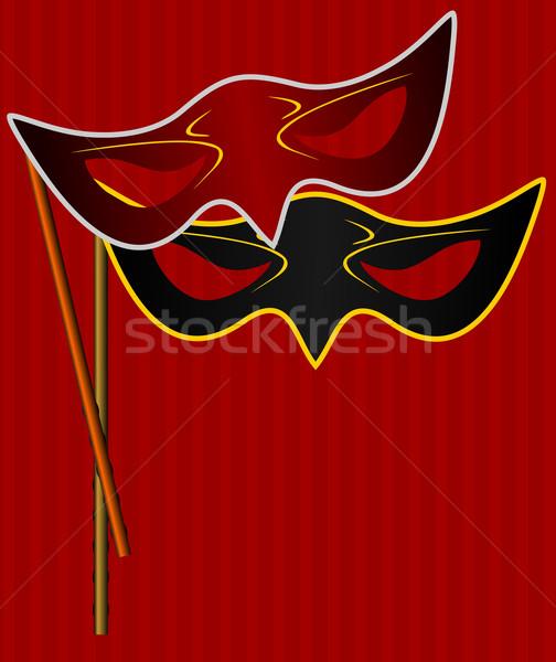 Realista ilustração máscara Foto stock © smeagorl