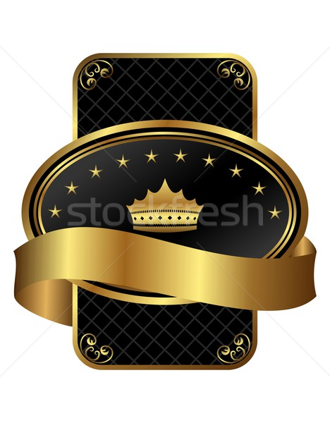 decorative ornate gold frame Stock photo © smeagorl