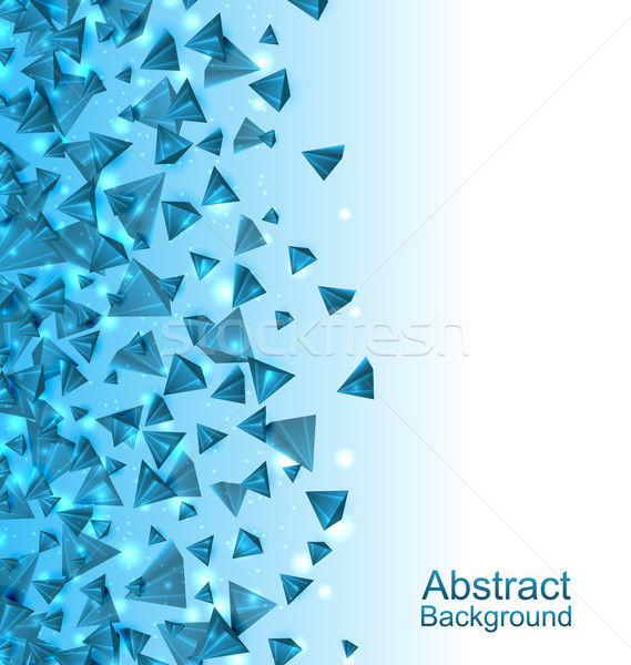 Blue Abstract Background with Pyramids with Light Effects Stock photo © smeagorl