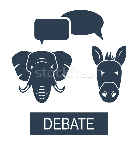 Concept of Debate Republicans and Democrats Stock photo © smeagorl