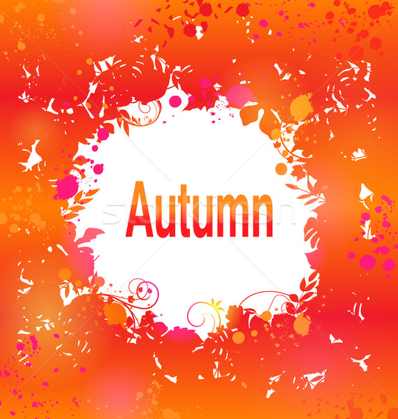 Autumn Grunge Background, Abstract Decorative Frame Stock photo © smeagorl