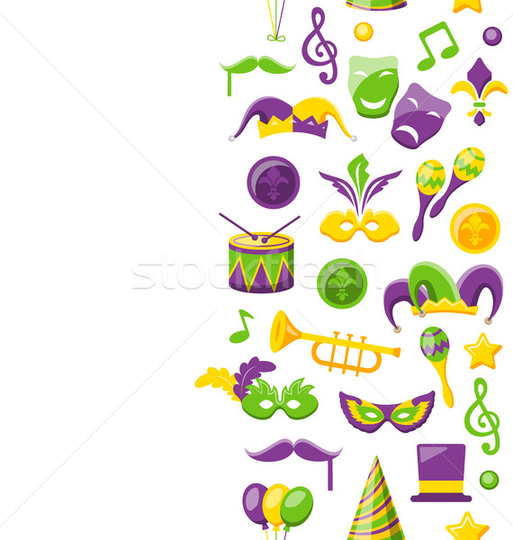 Cute Background for Mardi Gras and Carnival Stock photo © smeagorl