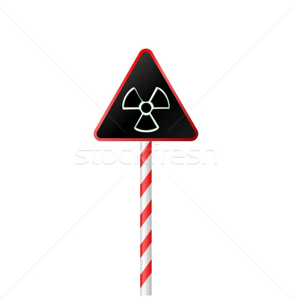 Illustration avertissement symbole radioactifs danger route Photo stock © smeagorl