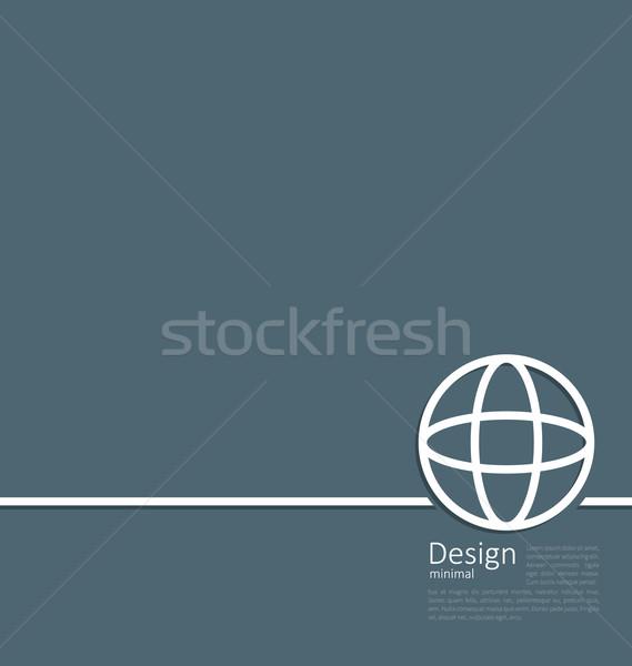 Logo ziemi świecie sieci struktury minimalny Zdjęcia stock © smeagorl