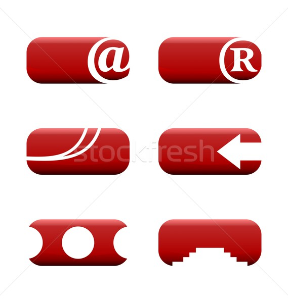 Illustration set of web elements for design Stock photo © smeagorl
