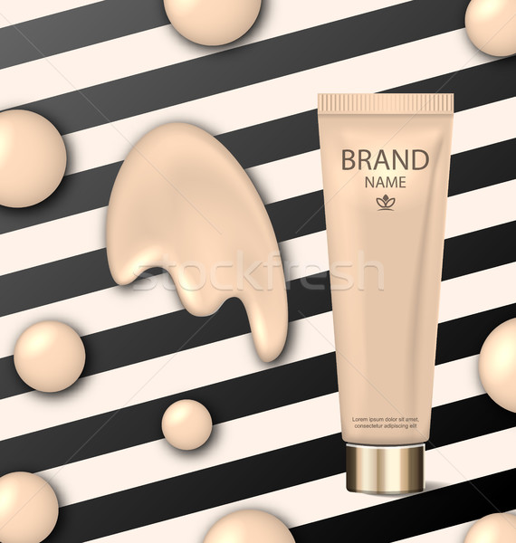 Poster for Cosmetic Product, Tube with Foundation Stock photo © smeagorl