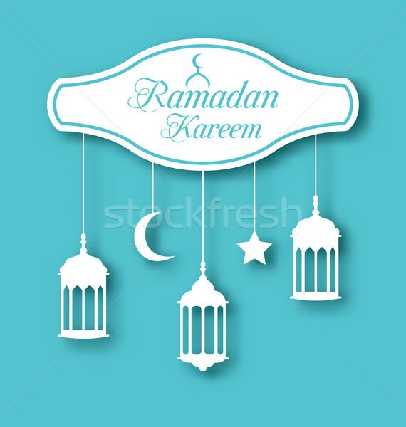Arabic semplice carta ramadan lampade illustrazione Foto d'archivio © smeagorl