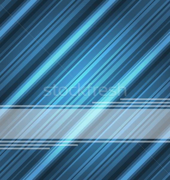 Techno soyut mavi çizgili doku örnek Stok fotoğraf © smeagorl