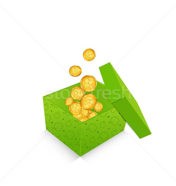 Açmak altın madeni para Aziz Patrick Günü iso Stok fotoğraf © smeagorl