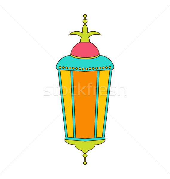 Arab színes lámpa ramadán illusztráció izolált Stock fotó © smeagorl