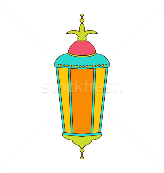 Arabic Colorful Lamp for Ramadan Kareem Stock photo © smeagorl