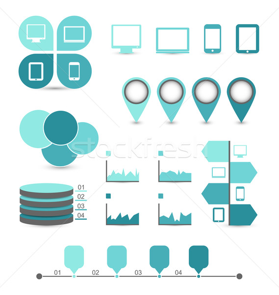 Infographic design elements ideal to display for your informatio Stock photo © smeagorl