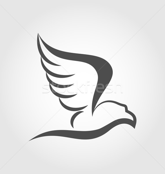 Flying eagle in the form of the stylized tattoo Stock photo © smeagorl