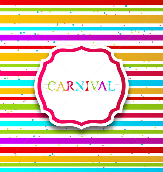 Colorful card with advertising header for carnival Stock photo © smeagorl