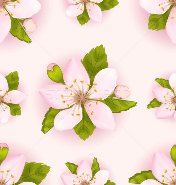 Cerise fleurs romantique illustration Photo stock © smeagorl