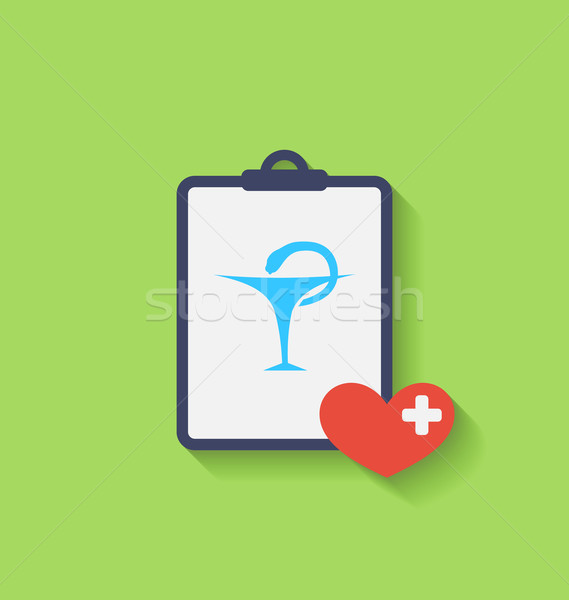 Medical Record with Caduceus Snake Stock photo © smeagorl