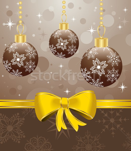 Christmas packing with set balls Stock photo © smeagorl