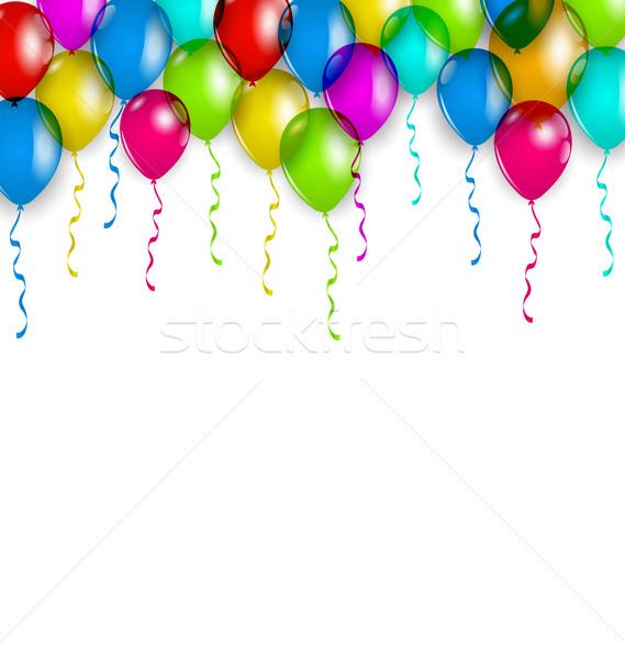 вечеринка украшение красочный шаров праздник иллюстрация Сток-фото © smeagorl