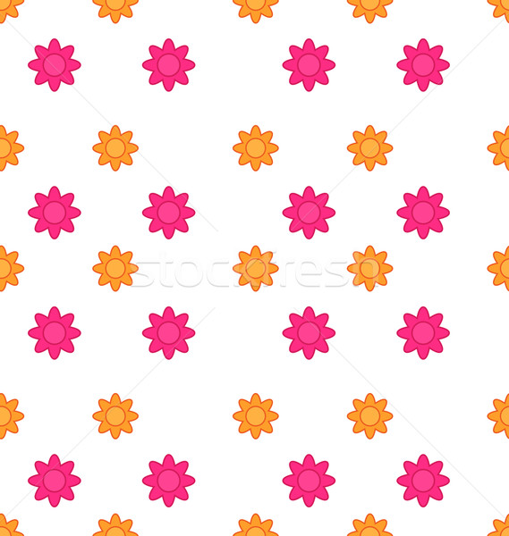 Seamless Texture with Flowers, Elegance Child Pattern Stock photo © smeagorl