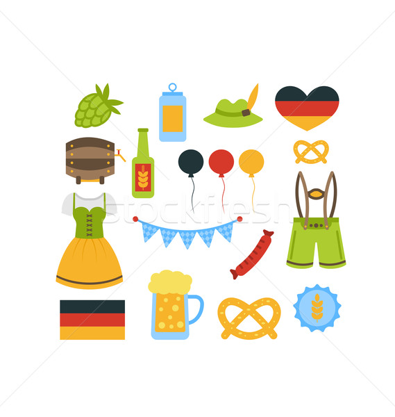 Oktoberfest kleurrijk communie illustratie geïsoleerd witte Stockfoto © smeagorl