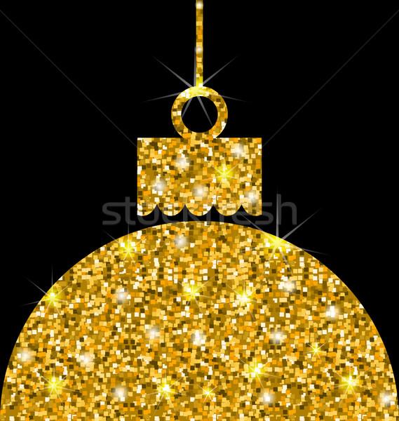 Christmas Ball with Golden Sparkle Surface Stock photo © smeagorl