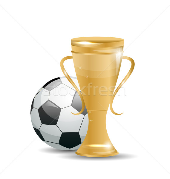 Golden Cup with Football Ball Stock photo © smeagorl