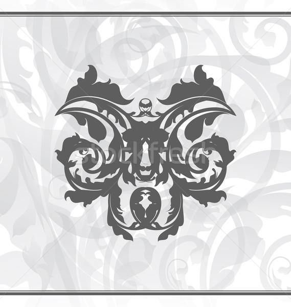 Damaszt díszítő tapéta illusztráció terv levél Stock fotó © smeagorl