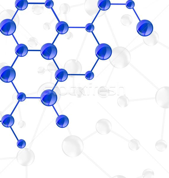 Moleküler zincir bo örnek bilim kimya Stok fotoğraf © smeagorl