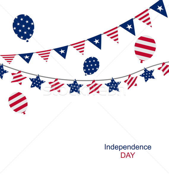 Bunting pennants for Independence Day USA Stock photo © smeagorl