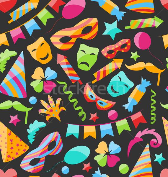 Stock photo: Festive Carnival Seamless Wallpaper