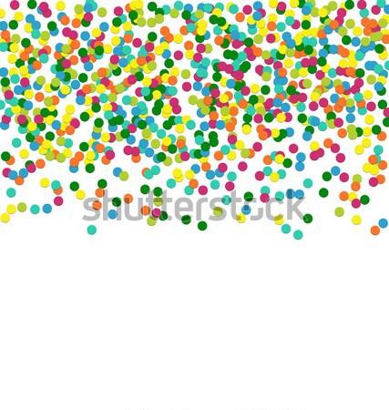 Noël cadre coloré confettis particules espace Photo stock © smeagorl