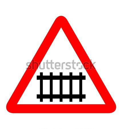 Illustration of road sign railroad Stock photo © smeagorl