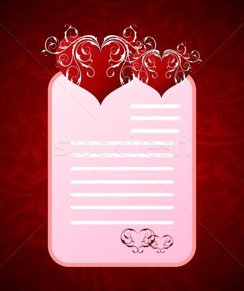 ストックフォト: ロマンチックな · 手紙 · バレンタインデー · 実例 · 抽象的な · デザイン