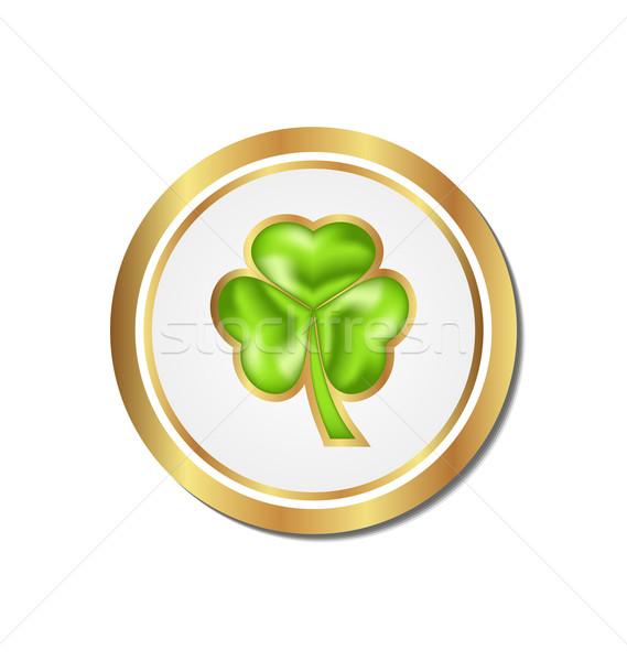 Shamrock sticker isolated for Saint Patrick day Stock photo © smeagorl