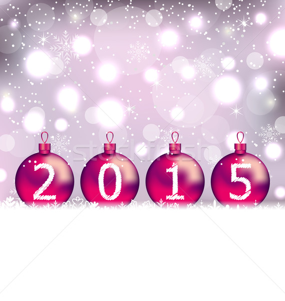Happy New Year in glass balls Stock photo © smeagorl