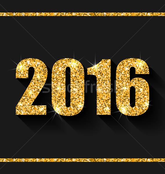 Dourado poeira feliz ano novo ilustração feliz abstrato Foto stock © smeagorl
