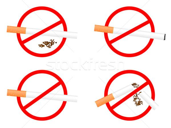 Set sign 'No Smoking' Stock photo © smeagorl