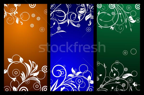 Floral espace de copie printemps résumé été orange Photo stock © smeagorl