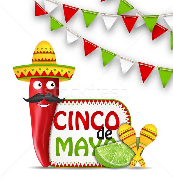Holiday Celebration Background for Cinco De Mayo Stock photo © smeagorl