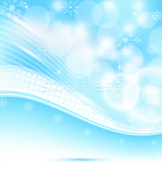 Christmas wavy background with snowflakes Stock photo © smeagorl