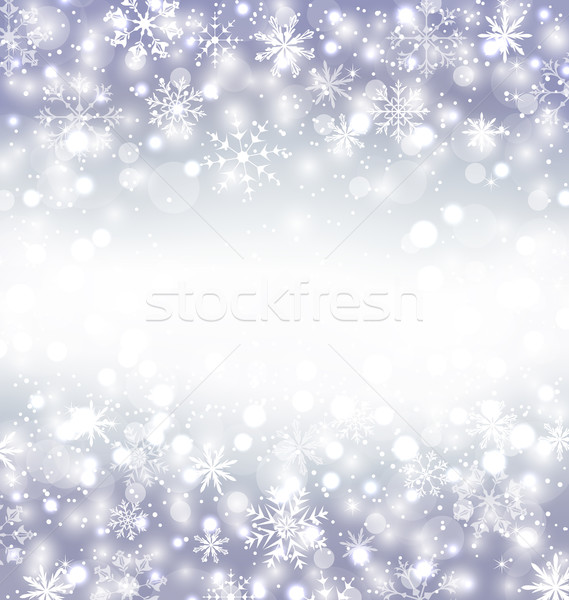 Navidad purple background with snowflakes and copy space for you Stock photo © smeagorl