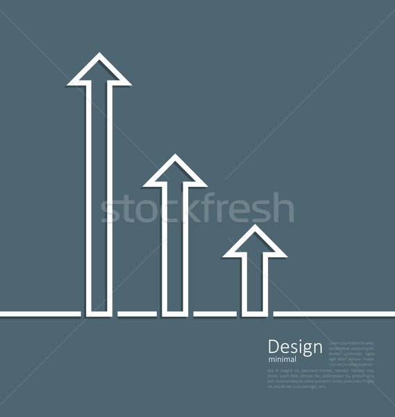 Arrows indicating a boost in success , logo template corporate s Stock photo © smeagorl