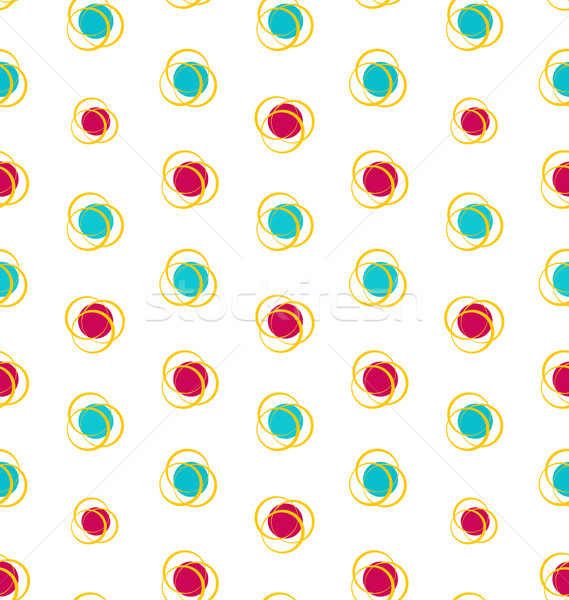 Illustration Abstract Seamless Texture with Colorful Objects, El Stock photo © smeagorl