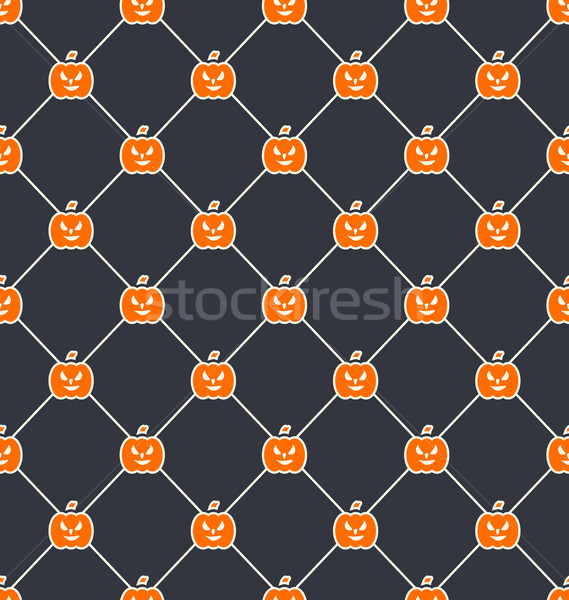 Seamless Texture with Carving Pumpkins Stock photo © smeagorl
