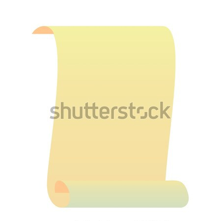 Photo stock: Réaliste · illustration · rouler · manuscrit · papier · signe
